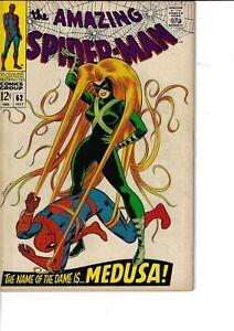 Amazing Spider-Man 62 Medusa VG/F 1968 Glossy Romita Cover