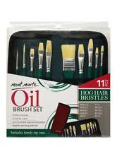 Mont Marte Hog Bristle Brush Set in Wallet 11pce - Oil