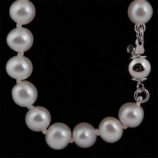Real Freshwater 6mm A Pearl Necklace & Sterling Silver Clasp - UK Seller