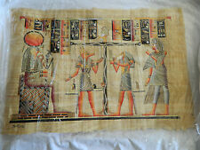 """Egyptian Papyrus Paper Painting High Quality Judgement Horus Anubis 26""""X34"""""""