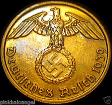 Germany  German Third Reich  German 1939B 2 Reichspfennig Coin