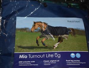"Horseware Amigo Mio Lite Pony Turnout Sheet - Navy/Red - Size 54 (EU 4'6"") NEW"