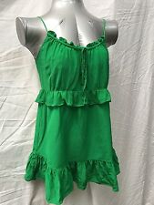 NWOT Central Park West Emerald Green Rushed Silk Top Blouse Tunic Sz S