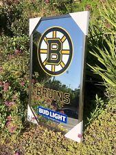 "Bud Light Boston Bruins NHL Hockey Beer Bar Man Cave Mirror ""New"""