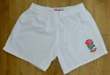 """England Rugby-brodé-Sports/Décontracté Shorts-Taille 36"""" - Blanc-Performance Tissu"""