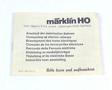 MÄRKLIN Anschluß der elektrischen Bahnen 10 77 Betriebs Anleitung Handbuch 1977