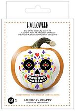 American Crafts 376623 Day of The Dead Halloween Sticker Kit Day of The Dead Foa