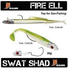 60g DELALANDE Fire Eel / Sandaal + 50g SWAT SHAD fertig montiert