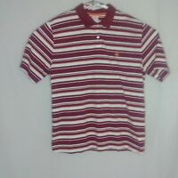 Brooks Brothers 346 Mens XL Red/White/Orange Striped Collared Short Sleeve Shirt