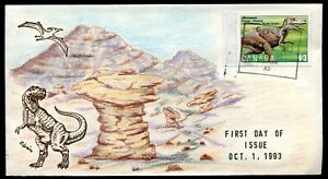 Canada FDC 1993 Dinosaurs Issue - Hand Illustrated Cover by SPEIRS -