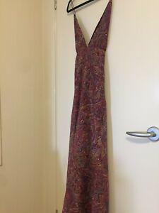 Zimmermann Cotton Silk Pink Paisley Maxi Dress Size 0