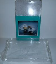 "Vintage Wheelock Acrylic Serving Tray With Handles New In Box 16.5"" X 10"" X 2"""