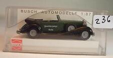 Busch 1/87 Nr. 41303 Horch 853 Cabrio Polizei Feuerschutzpolizei Berlin OVP #236