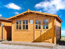 28mm Gartenhaus 400x400 cm 4x4 m Gerätehaus Holzhaus Blockhaus inkl. Fußboden