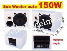 Subwoofer attivo amplificato da auto woofer da 20,3cm 150W max con crossover