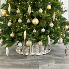 Kubu Rattan Wicker Christmas Tree Collar Skirt Natural 50 X 26cm