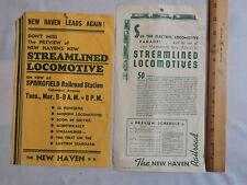 2 1937-8 NYNHRR New York New Haven Railroad Streamliner Fliers 8x10 train