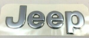 1997-2005 Jeep Grand Cherokee front bumper rear hatch silver Nameplate Emblem