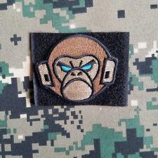 Mil-Spec Monkey Monkey Head Logo Hook Patch Militray Tactical Brown Badge Loop