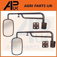 PAIR Telescopic Mirror Arms & Heads Tractor Ford New Holland Massey Ferguson