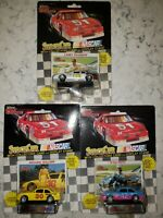 Lot of 3 Racing Champions 1990 Kyle Petty, Larry Pearson, M Waltrip 1/64 scale