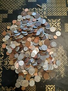 collection, lot de pièces de monnaie étrangères
