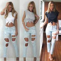 Women Summer Casual Loose Short Sleeve Tee T-shirt Cotton Knot Blouse Crop Tops