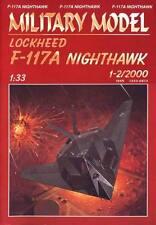 Lockheed F 117-A Nighthawk Papel Tarjeta Modelo 60cm de largo 1:33 Escala