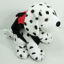 Plush Dalmatian Puppy Dog Wearing Backpack Black Eye Spotted Kids Express Train