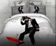 gray black Michael Jackson queen size Cotton Quilt / duvet Cover Bed Sets sheet
