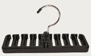 Neck Tie Hanger Belt Closet Organizer Rack Scarf Holder Holds 8