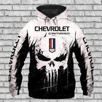 CHEVROLET CAMARO-Top Gift-Men's Hoode 3D-SKULL SO COOL-HALLOWEEN-SIZE S TO 5XL