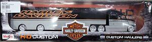 Harley-Davidson Custom Hauler Truck Black 1:64 Diecast Model toy gift MOD239
