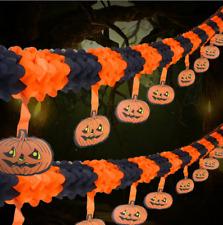 3M Halloween Pumpkin Paper Pull Flower Party KTV Decoration Props Pendant KY