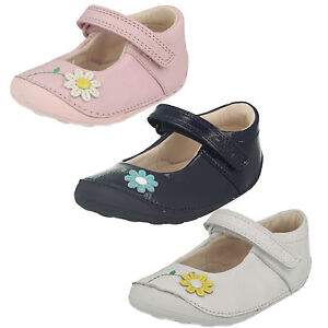 GIRLS CLARKS LITTLE JAM HOOK & LOOP INFANT CASUAL CRUISER MARY JANE SHOES SIZE