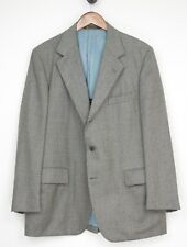 VTG H Freeman Naturalaire Wool 3 Piece Tweed Suit 44R 40/30 Gray 3 Roll 2 Jacket