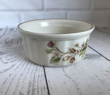 Vintage Ramekin Dish Harvest Autumn Leaves Design Retro Stoneware