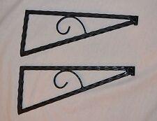 4 pcs    ( 2 pairs )  Wrought Iron  shelf brackets  WALL, SHELF, BRACKETS