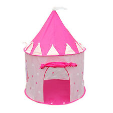 Portable Pink Pop Up Play Tent Kids Girl Princess Castle Outdoor Play House
