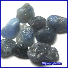 20.9 CT. 9 PCS. RAW UNHEATED NATURAL ROUGH BLUE SAPPHIRE # FREE SHIP