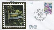 FDC PREMIER JOUR ANDORRE 1977 TIMBRE N° 261  CHAPELLE SAINT JEAN DE CASELLES