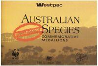 Westpac Australian Endangered Species Commemorative Medallions Set 1992
