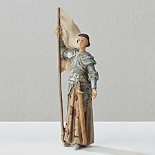 Statue St Joan of Arc 3.5 inch Painted Resin Figurine Patron Saint Catholic Box