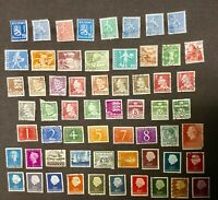 LOT OF 60 FINLAND SWITZERLAND DENMARK NETHERLANDS POSTAGE STAMPS COLLECTED 1960s