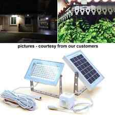 84-LED Solar Powered Dusk-to-Dawn Sensor Waterproof Outdoor Security Flood Light