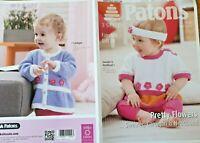 Patons 4000 New Baby Knitting Pattern - Sweater, Cardigan & Headband in DK Wool