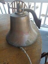 "Bronze perko fog bell rare 12"" brass yacht sailboat sail 150-12"
