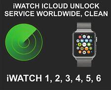 iCloud Unlocking Service, Clean, Worldwide, fits iWatch 1, 2. 3, 4, 5, 6