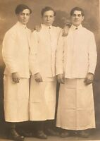 Studio Real Photo RPPC ~ Three Handsome Young Men Restaurant Waiters St. Paul MN