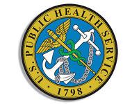 "4"" us public health service seal logo bumper sticker decal usa made"